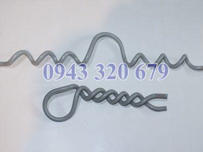 Giáp níu dây bọc cổ sứ, dây buộc polymer
